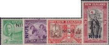 "Niue SG98-101 1946 Peace stamps of New Zealand overprinted ""NIUE"" set of 4"